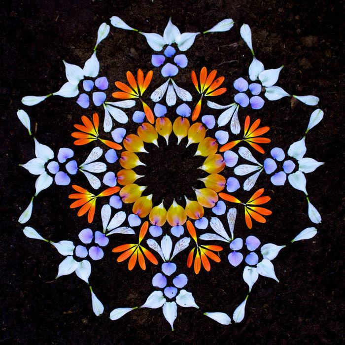 These Beautiful Mandalas Are Made With Flowers