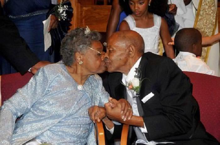 Elderly Wedding Couples