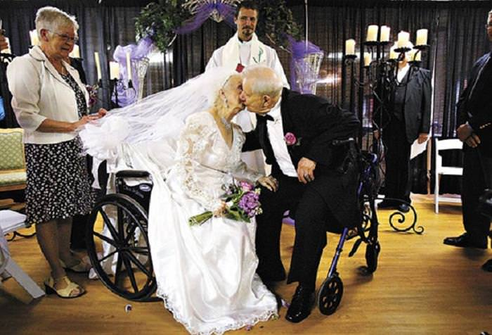 Elderly Wedding Couples