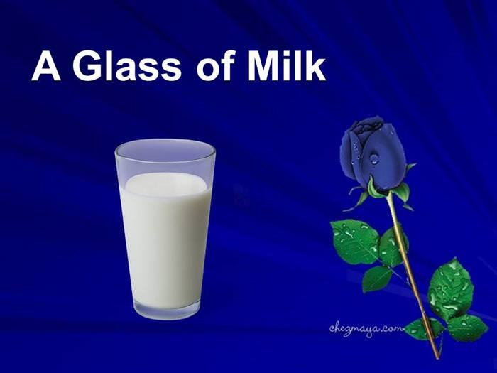 glass of milk inspiring story