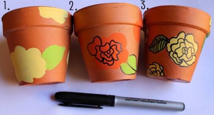 flower pots