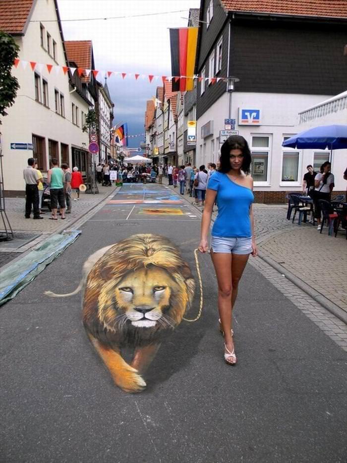 Remarkable 3D Sidewalk Paintings Look Too Real