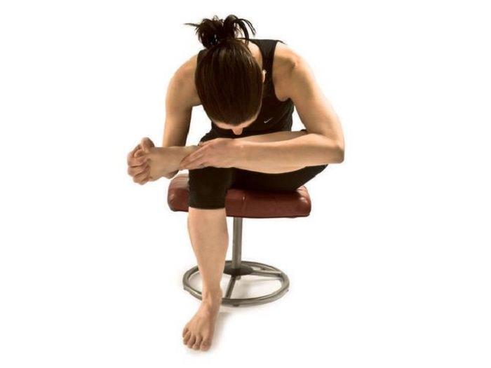 chair thread the needle - gerakan yoga