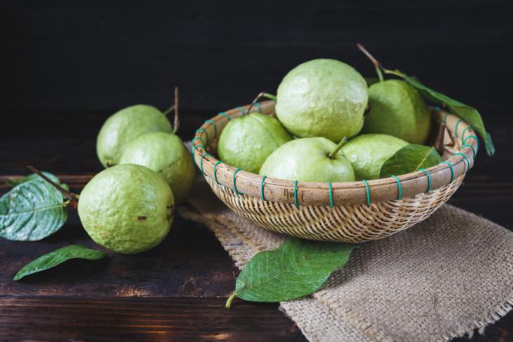 health benefits, guavas
