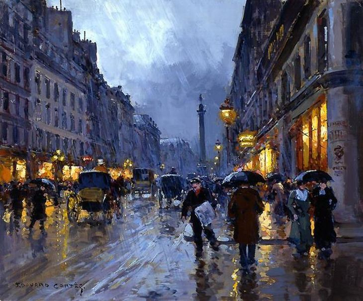 The stunning parisian paintings of edouard cortes art for La paix interieur