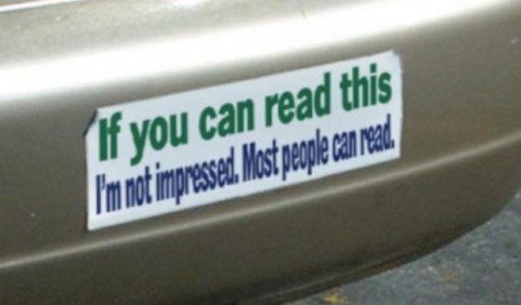 Bumper stickers funny