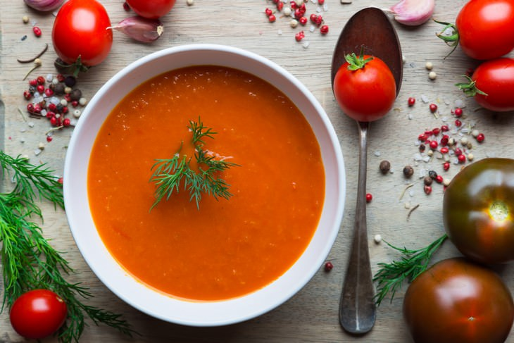 tomato, turmeric, black pepper, soup, inflammation, cancer, health