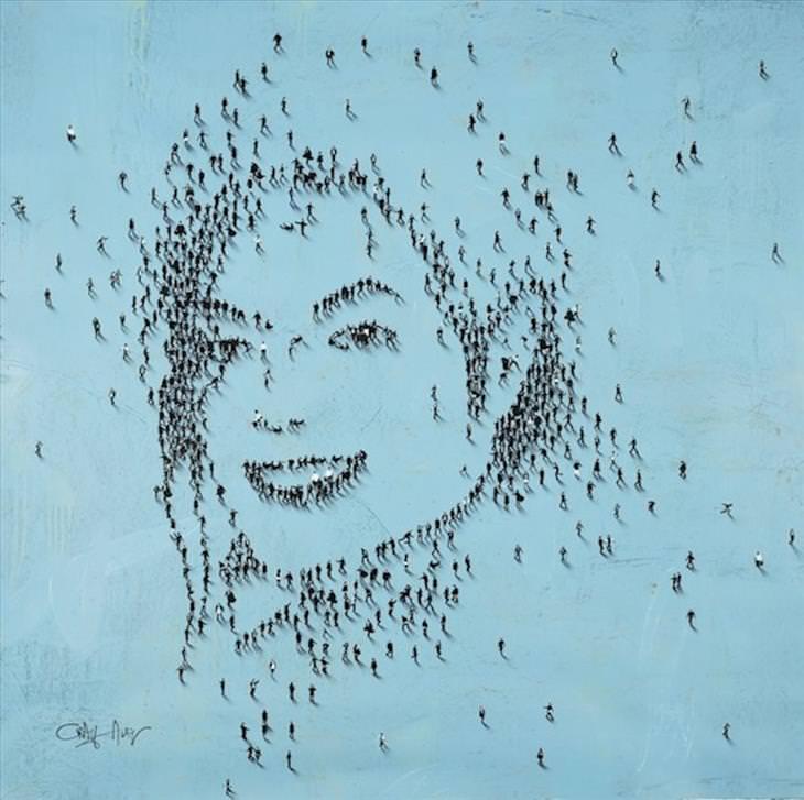 art, people, crowd