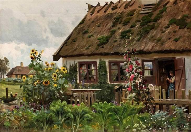 Peder Mørk Mønsted, paintings