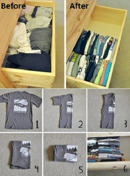 folding clothes