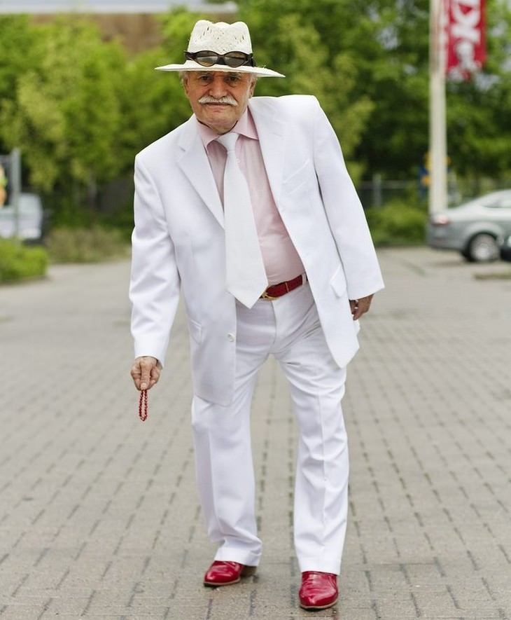 old man, clothes, fashion