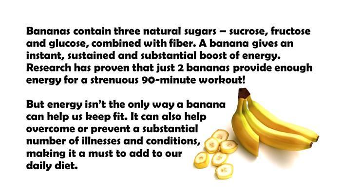health benefits of bananas