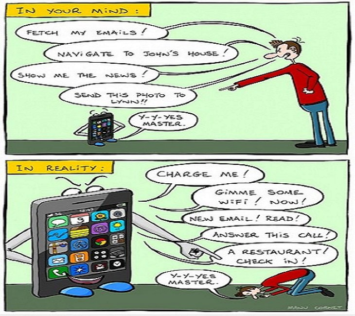 Smartphones - Dependent - Taken Over - Funny - True