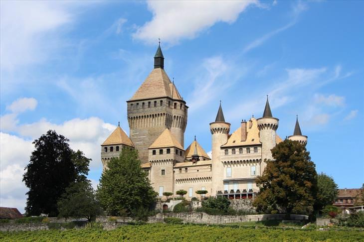 Swiss castles, beautiful, travel
