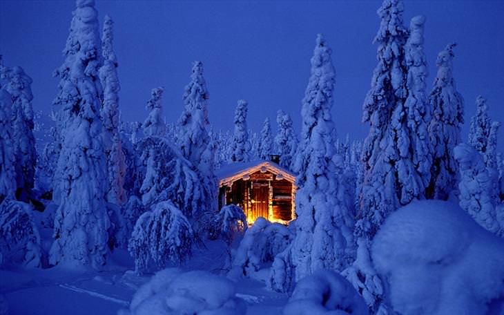 Lapland, beautiful, snow, winter