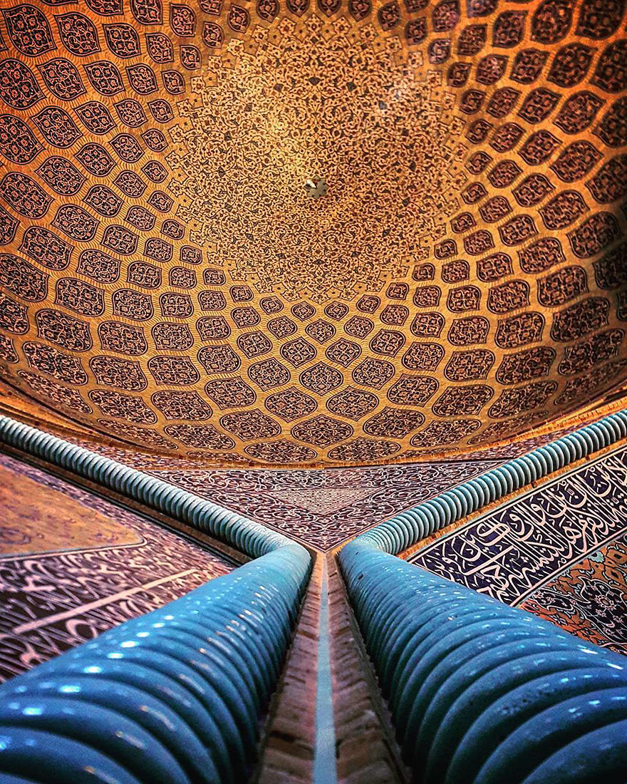 The Beautiful Ceilings Of Irans Mosques Design Photography - The mesmerising architecture of iranian mosques