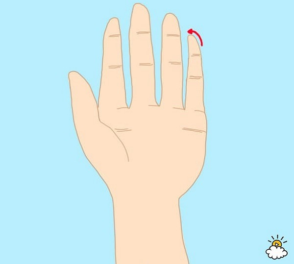 personality test - curved or crooked pinky finger