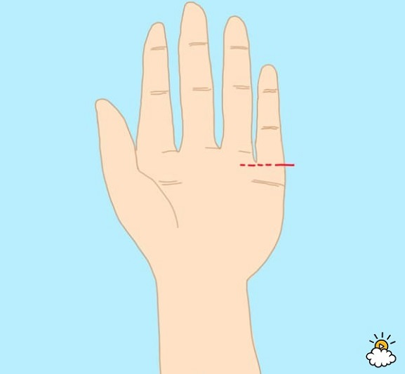 personality test - low set pinky finger
