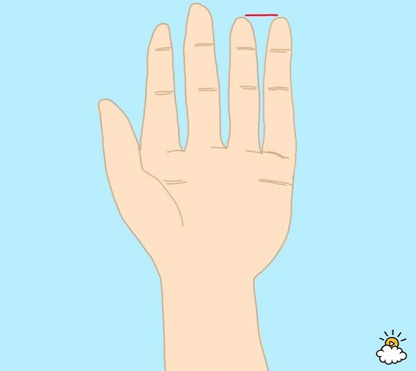 personality test - ring and pink fingers are the same length