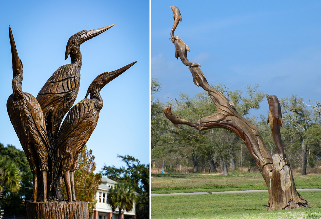 Amazing places with tree carvings and sculptures art