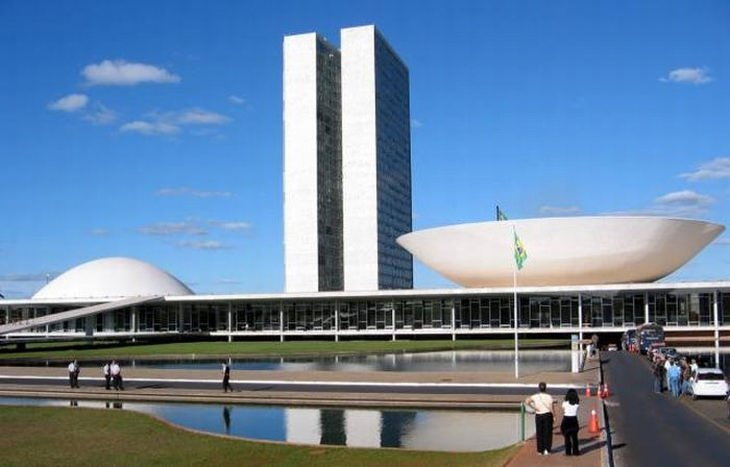 This Is The Building In Which National Congress Of Brazil Gathers Together With Simple Bold Shapes That Make Up Its Actual Setting