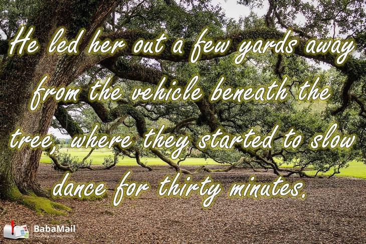 slow dance, old couple, oak tree