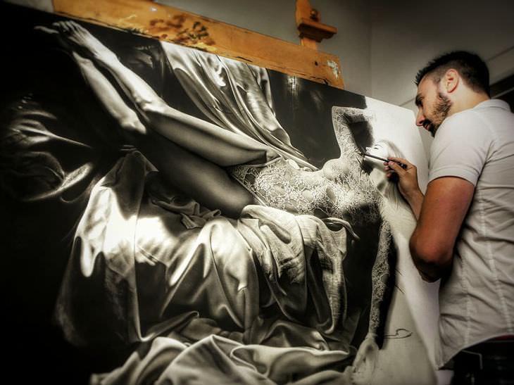 artists drawing, beautiful woman