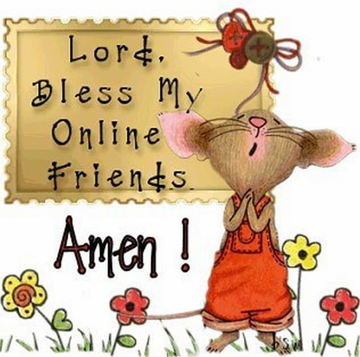 blessing to a friends