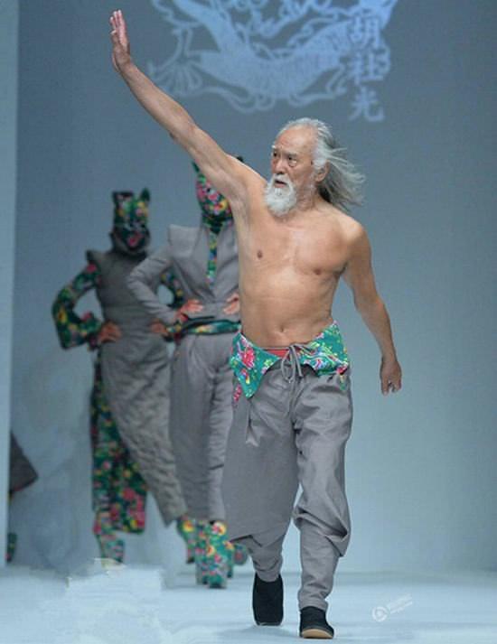 old man, 80, model