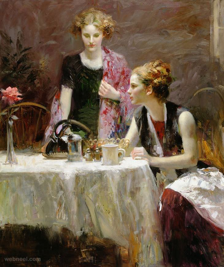 The Beautiful Paintings of Pino Daeni | Art - BabaMail