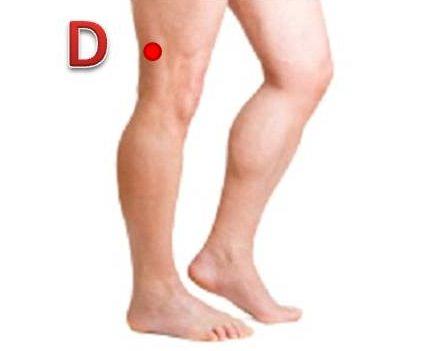 knee acupressure points