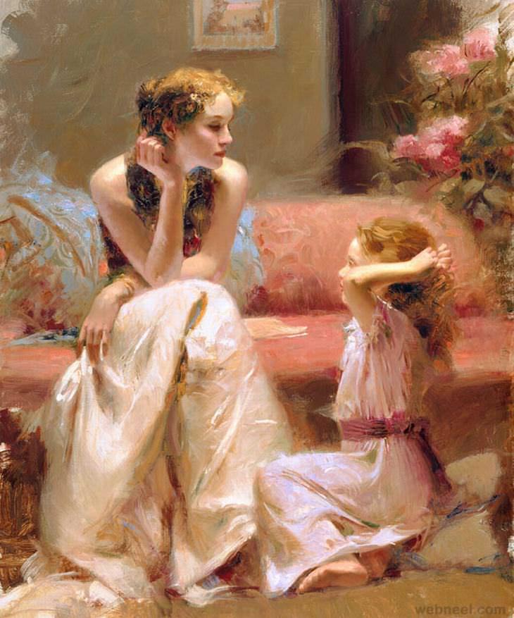 The Beautiful Paintings of Pino Daeni | Art - BabaMail