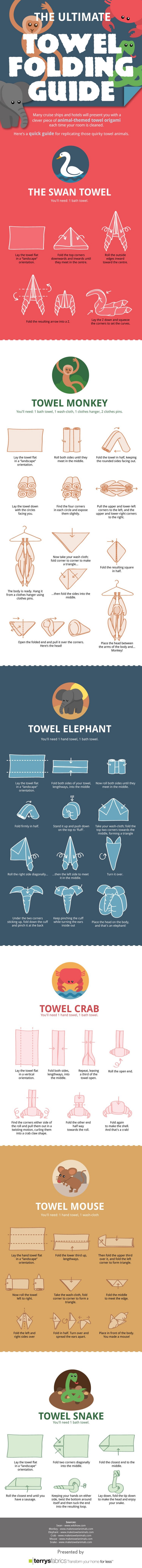 towel, folding, guide