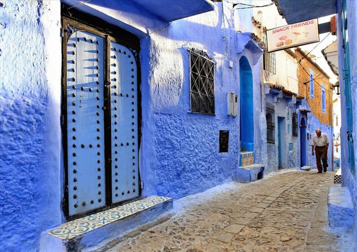 Chefchaouen, blue, city, travel