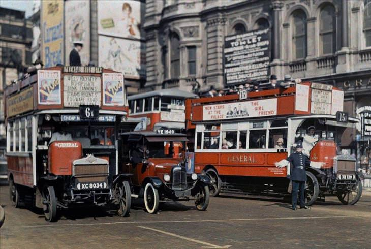 England, 1920s, color, photographs