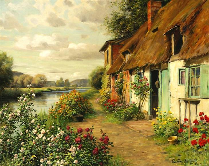 Louis Aston Knight, painting