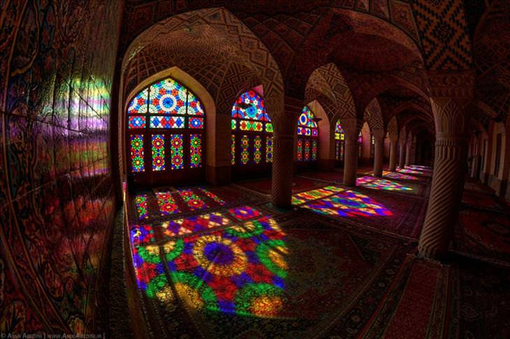 mosque, Iran, beautiful, colorful