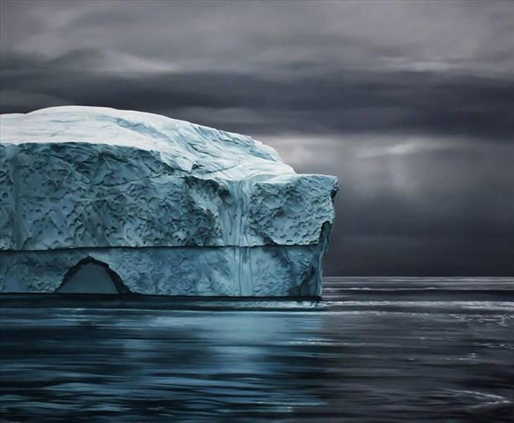 finger painting, realistic, landscape, ocean