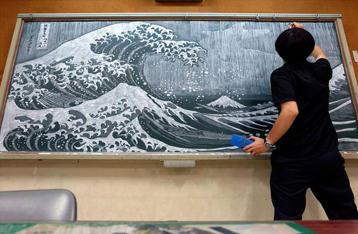 art, chalkboard, teacher, Japan