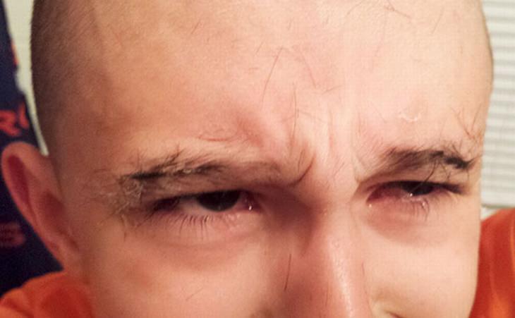 oops-head-shaving