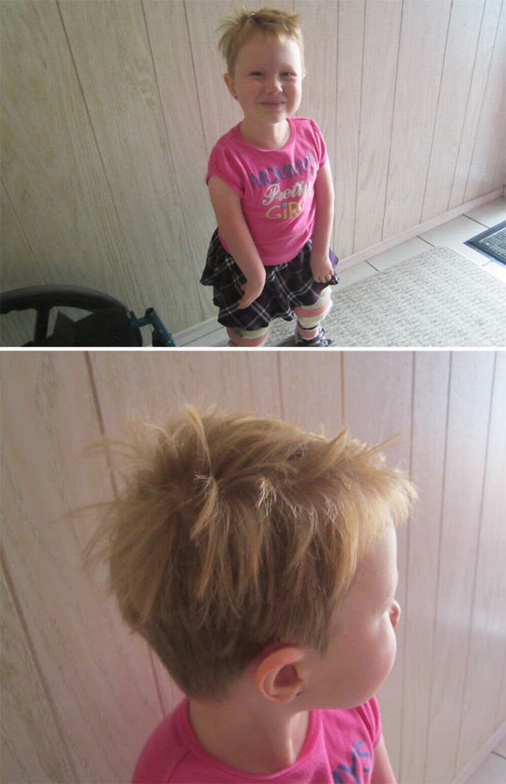16 Hilarious Kids Haircut Disasters Funny Babamail