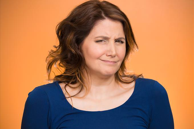 woman making sarcastic face