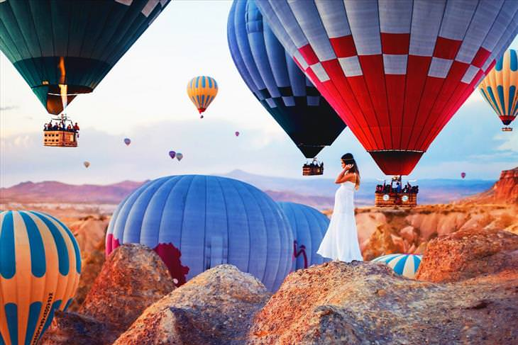 Cappadocia, Turkey, photos, balloons