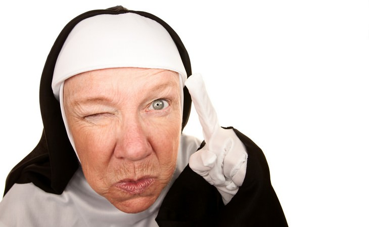 nuns, rude, cheeky, joke