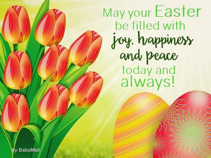 Wish your friends a happy easter baba recommends babamail easter greeting card m4hsunfo