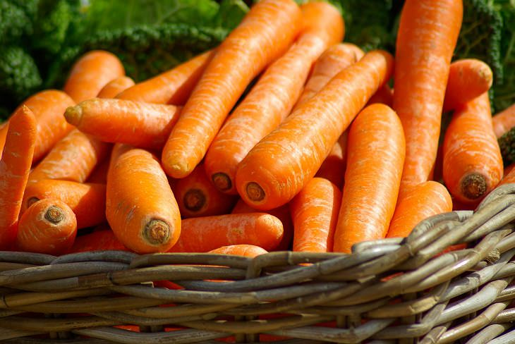 It's just like you were always told: carrots give you good eyesight. Carrots  are rich in aptly named beta-carotene, which your liver makes into vitamin  A, ...