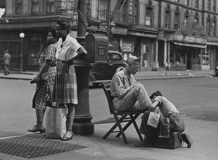 New York, retronaut, black and white, photography