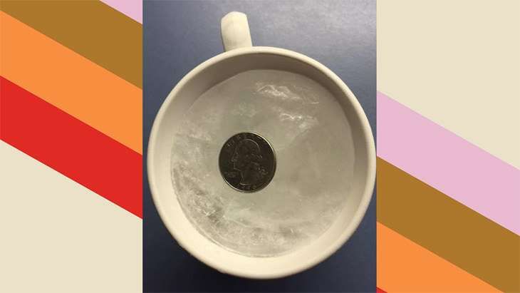 "The ""Cup of Water and a Quarter"" Trick"