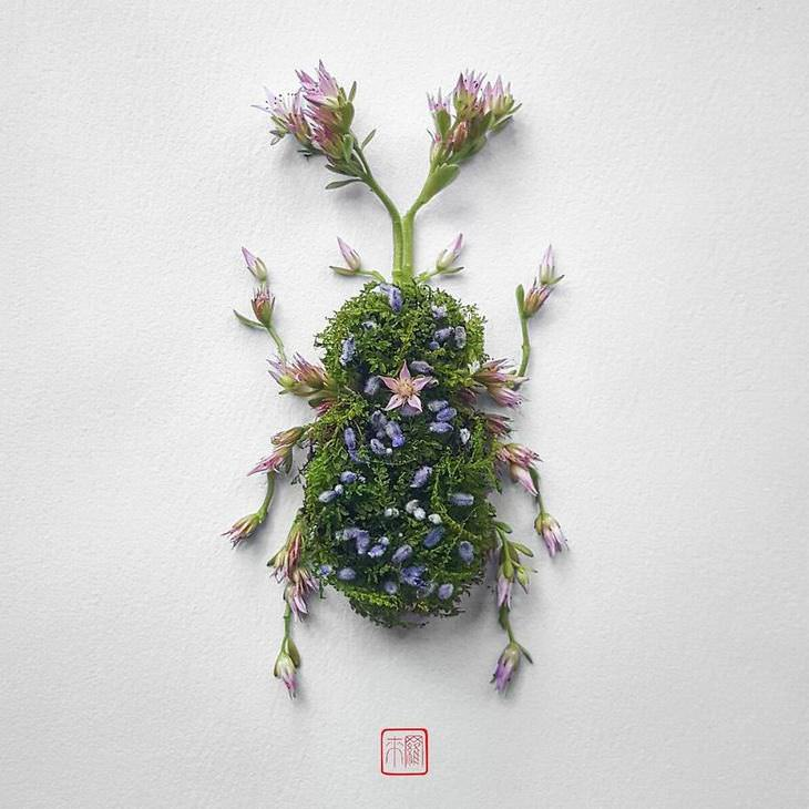 insects made of flowers