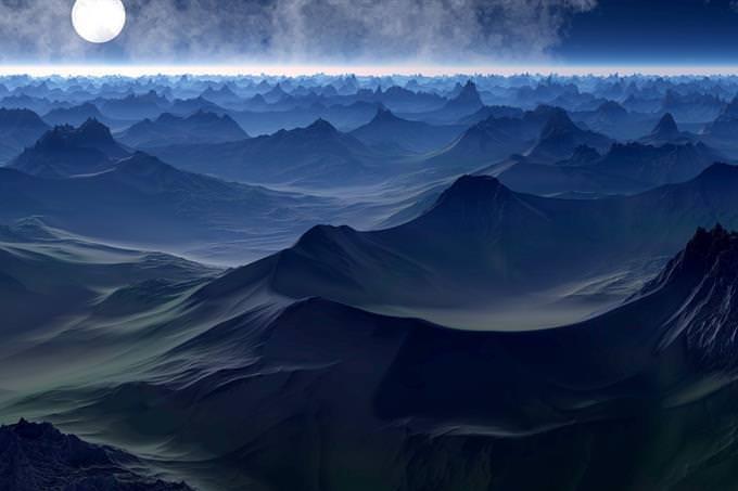 montaña oscura